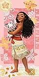 L-S KIDS BOUTIQUE VAIANA Disney - Serviette Drap de Plage Bain 75 x 150 cm 100% Coton
