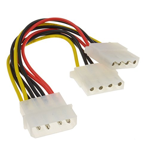 2 Manera 4 Pines PSU Energía Divisor Cable LP4 Molex 1 A 2 Cable 15 cm