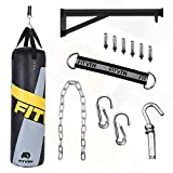 FITVEN Punching Bag 50-Pound for Adults Youth Kids with Wall Mount Wall Bracket Heavy Bag for Kickboxing