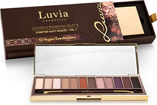 Luvia Profi Lidschatten-Palette - Forever Matt Eyeshadow Palette - Inkl. 12 Matten Nude, Braun &...