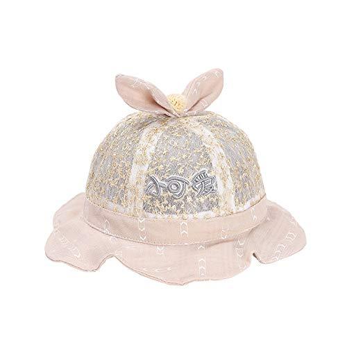 wopiaol Sombrero para niños Verano Malla Arco Encaje Lindo bebé Sombrero para el Sol Sombrero de Pescador para niños Coreanos