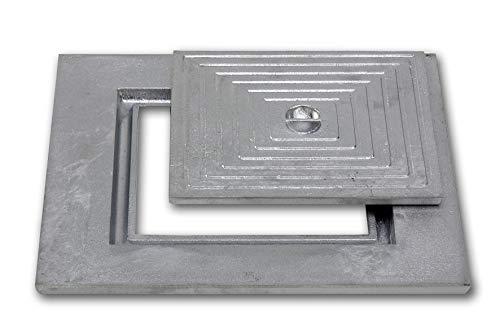 Chassis de visite à simple fond en aluminium coulé - 50 x 50 cm