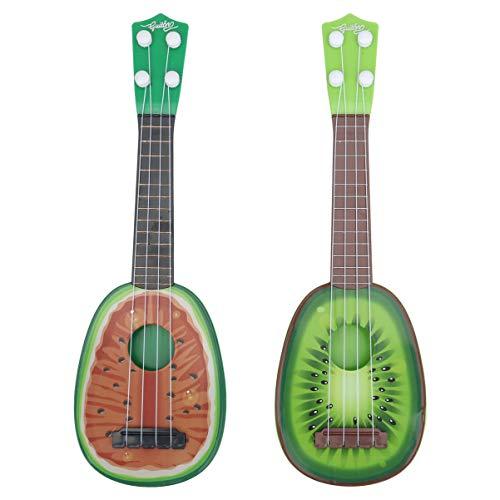 TOYANDONA 2 Stks Muziekinstrument Speelgoed Ukelele Gitaar Speelgoed Educatief Spel Speelgoed Voor Kinderen Kids Hawaiian Beach Party Ornament