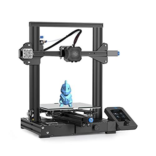 YUN CREALITY Ender-3 V2 Stampante 3D, Dimensioni di Stampa 220×220×250 mm, Supporto consumabili PLA, TPU, PETG Adatto, Funzione di Stampa Salva/ripristina spegnimento, Basso Rumore