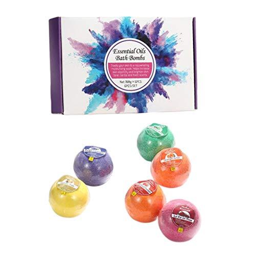 SDENSHI 6 Piezas de Bombas de Baño Hechas a Mano, Aromas Increíbles para Spa, Piel Seca, Hidratar Regalos - 01