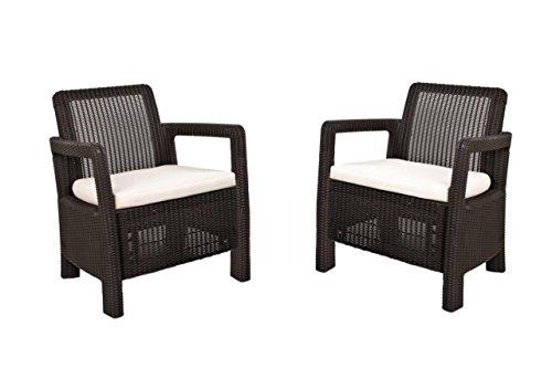 Keter Tarifa - Conjunto de sillones de jardín exterior con cojines incluidos,...