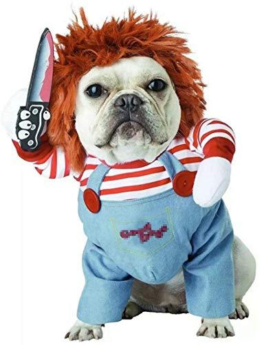 Enetos Hundekostüm Neuheit lustig Haustiere Party Cosplay Bekleidung Haustier-Kleidung Geeignet für große und mittlere Welpen(S)
