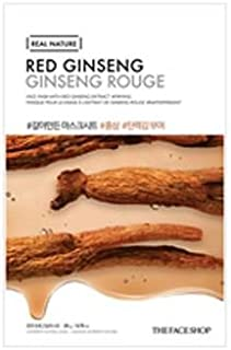 [The Face Shop] Real Nature Mask Sheet 20g #Red ginseng