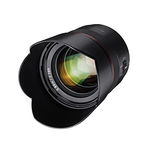 Samyang AF 75mm F1,8 FE für Sony E Portrait-Objektiv für Vollformat und APS-C I ultra leichtes Teleobjektiv mit 32,9° Bildwinkel und schnellem Autofokus I Festbrennweite für Sony A7C, A7 III, A6100 u.a.
