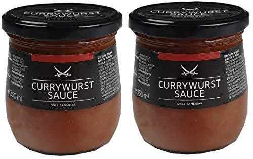 SANSIBAR Sylt - die kultige Currywurst Sauce - spicy (würzig-scharf) je 350ml (4)