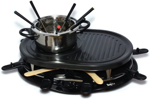 Total Chef TCRF08BN - Pala para 8 personas, color negro