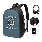 Zaino portabagagli USB da veterano degli Stati Uniti da viaggio Zaino per laptop da 17 pollici per scuola di viaggio Busin