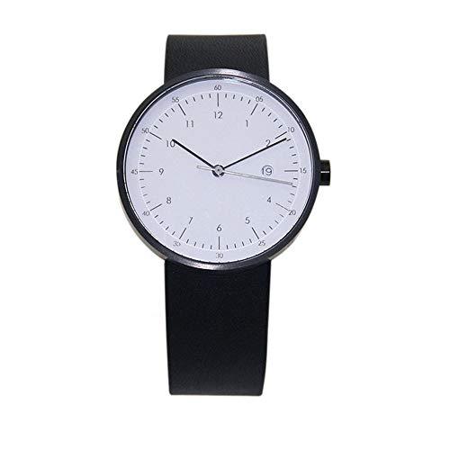 irugh Reloj de Cuarzo, Pareja Minimalista, Mesa de 50 m de Profundidad, Reloj de Movimiento Importado Suizo, Reloj de cinturón de Gama Alta, Movimiento Importado