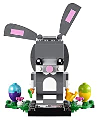 Buildable LEGO BrickHeadz Easter Bunny construction character features decorated eyes, movable ears and a detachable carrot and bucket Also includes 2 buildable Easter eggs and flowers Each LEGO BrickHeadz construction character comes with its own bu...