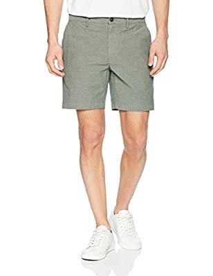 "Amazon Brand - Goodthreads Men's 7"" Inseam Lightweight Oxford Short, Olive, 40"