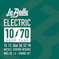 LA BELLA ラベラ ドロップチューニング用エレキギター弦 HRS-D2 Drop Tune Electric Guitar Strings - 10-70