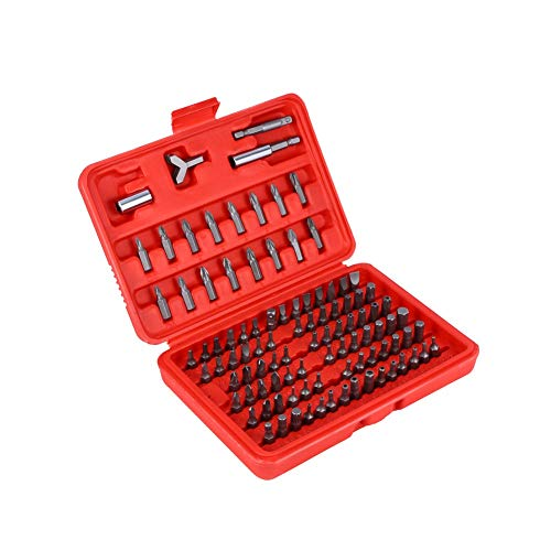 SHENYUAN 100Pcs/sets Usful Screwdriver Bit Set Tamperproof Security Bits Set Hand Tools Screw Driver Bits Drill with Box