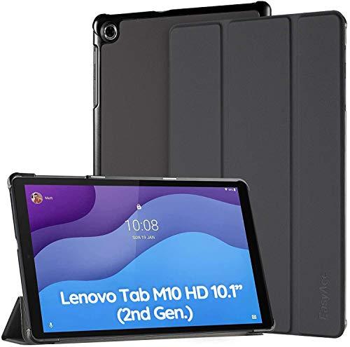 EasyAcc Custodia Cover Compatibile con Lenovo Tab M10 HD 2nd Gen 10.1 pollici TB-X306X/TB-X306F, Ultra Sottile Case con Funzione di Supporto Auto Sleep Wake Up Slim Cover, Nero