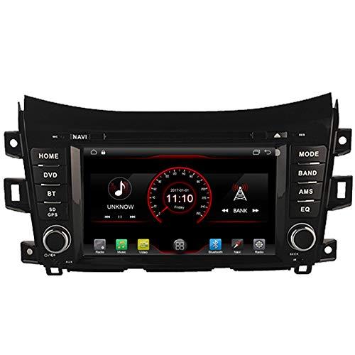 Autosion Android 10 Lecteur DVD de Voiture GPS Radio Head Unit Navi Stéréo Multimédia WiFi pour Nissan Navara NP300 Alaskan 2014 2015 2016 2017 Support Commande au Volant