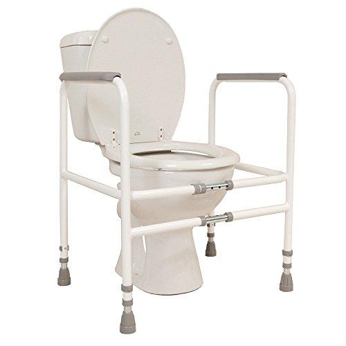 Breitenverstellbares Toilettengestell