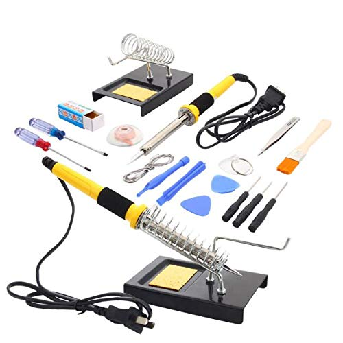 Buy Discount Cypressshop Electric Solder Iron Gun Weldering Soldering 18in1 60W Repair Tools Kit Set...