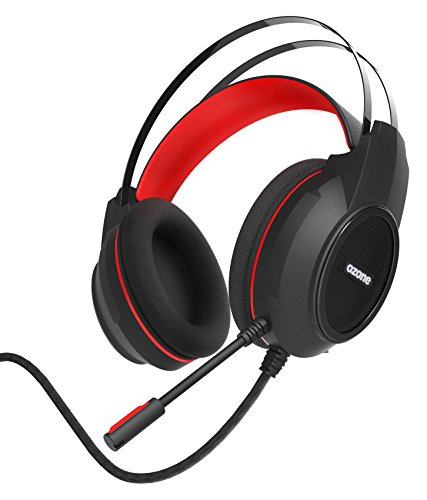 Cascos Gaming Ozone Ekho H30 - Auriculares con microfono - Compatible PS4, Xbox One, Windows - Sonido Estereo, Diadema Ajustable, Micro Cancelacion de Ruido, Mini-Jack, Negro