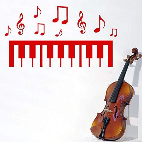 AGiuoo Saltar Notas en la Parte Superior de una tecla de Piano, Pegatina de Pared Musical, Amante de la música para la decoración del hogar y la Tienda de música 57x32cm
