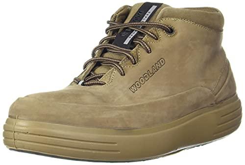 Woodland Men's Dubai Khaki Leather Ankle Boot-7 UK (41 EU)(GB 3451119)