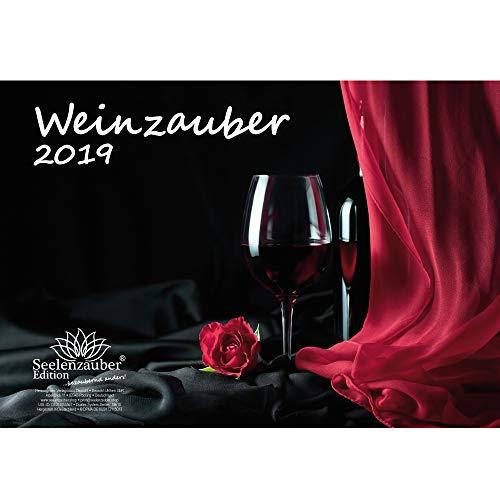 Wijnmagie · DIN A4 · Premium kalender 2019 · wijn · wijngoed · rode wijn · witte wijn · Weinberg · Frankrijk · Italië · Oostenrijk · Zwitserland · Set 1 wenskaart & 1 kerstkaart · Edition Seelenzauber
