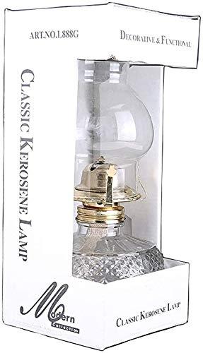 Sooiy Lámpara de keroseno clásico Hauptnotlicht Nostálgico Linterna Carpa de Cristal luz de la lámpara de Aceite con mobiliario de época Restaurante decoración de la Barra 500 ml