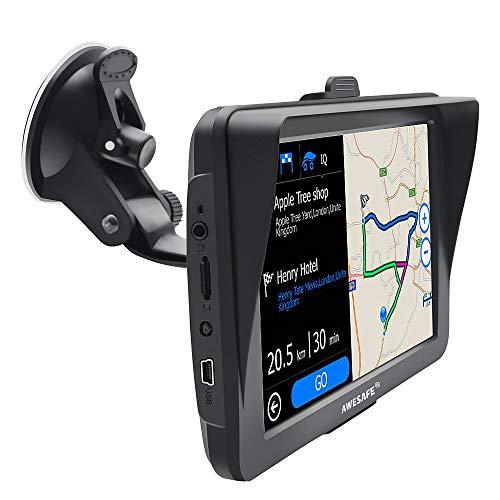 AWESAFE GPS Voiture 7 Pouces Ecran Tactile Cartographie...