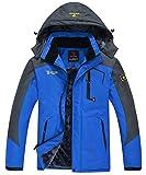 JINSHI Men's Mountain Waterproof Fleece Ski Jacket Windproof Rain...