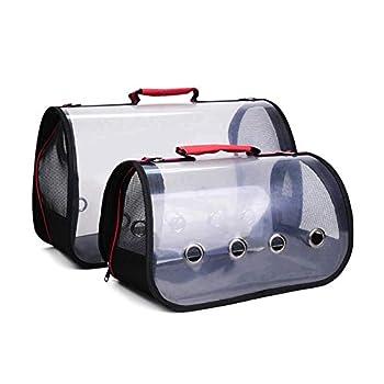 FUCHA Sac de transport en PVC transparent respirant pour perroquet