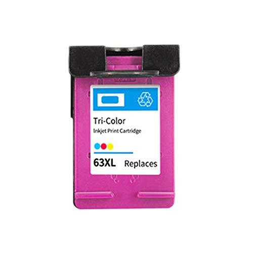 Compatible con el Cartucho de Tinta HP63XL 63, Adecuado para la Impresora HP2130 3630 3830 officejet 4520 4650 3632 para Imprimir en Cuatro Colores claros y de Alta calidad-3colors