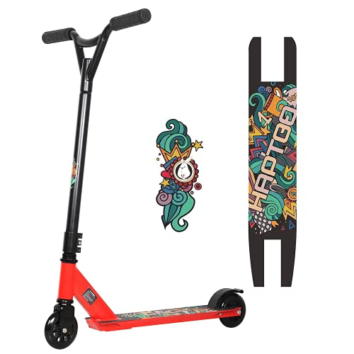 HAPTOO Trick Scooter for Kids 8 Years and Up, Entry Level Stunt Scooter Freestyle Kick Scooter for Beginner Teen Boys