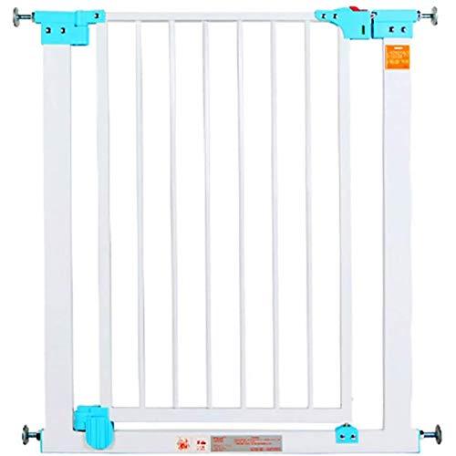 YONGQUAN Seguridad Stair Gate Baby Safety Playpen Hearth Gate Gate Gate, Sala Divisor Chimenea Cerca de Pet, Longitud 74-81cm (Color : Blue, Size : 74-81cm)
