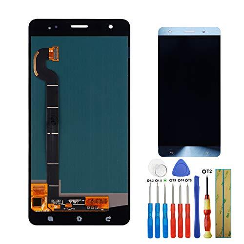 E-yiviil - Pantalla Amoled de Repuesto Compatible con ASUS Zenfone 3 Deluxe ZS570KL Z016D LCD Touch Screen Assembly con Herramientas, Color Azul