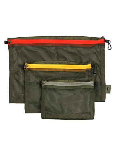 Tasmanian Tiger TT Mesh Pocket Set Rucksack Organizer Zusatz-Taschen in 3 Größen Oliv