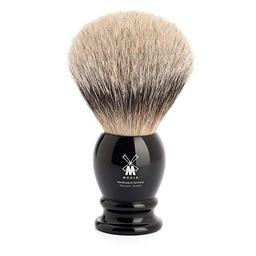 MÜHLE - Rasierpinsel - CLASSIC Serie - Silberspitz Dachszupf XL - Edelharz schwarz