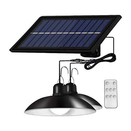 OSALADI 1 Juego de Luz Colgante Alimentada por Energía Solar con Control Remoto IP65 Luz Solar Impermeable Lámpara Vintage para Jardín Patio Porche Hogar