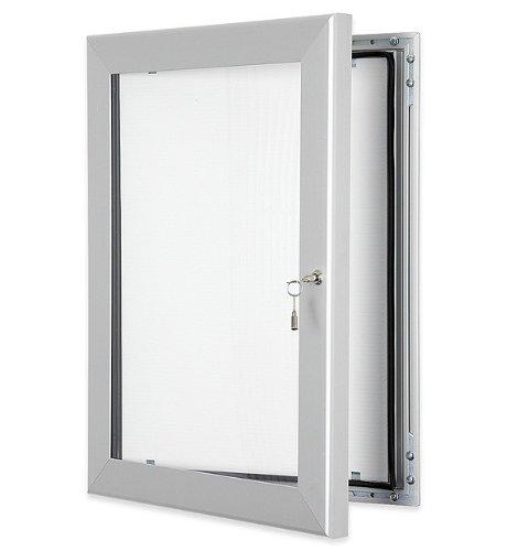 Tablón de anuncios exterior con cerradura, A2 (4 x A4, (no perforable), con sellado impermeable para uso en interiores o exteriores