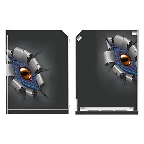 Disagu Design Skin für Nintendo Wii stehend Design Folie - Motiv Drachenauge-Blau