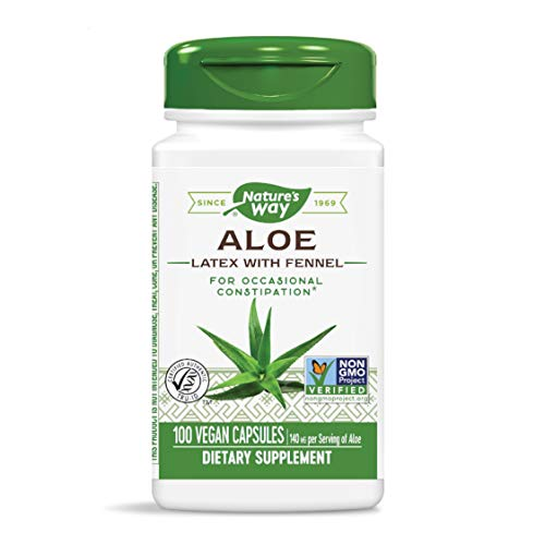 Nature's Way Aloe Latex with Fennel 140 mg, for Occasional Constipation, 100 Capsules