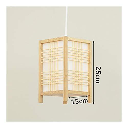 LZDD Lámpara de Sala de Estar de Dormitorio Madera Moderno Estilo Chino bambú de la Armadura Luces Pendientes Restaurante japonés Decoración Cafe E27 lámparas Pendientes de la iluminación