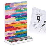 Supporto per il Calendario Filosofico 2022 Positivo, Geniale da Tavolo   ANDRÀ TUTTO BENE   Compatibile con altri Ricambi di Calendari a Blocco Formato A6   Dimensioni cm 12x17x6