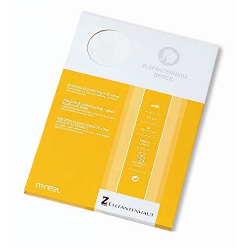 Zanders Elefantenhaut - Marmoriertes Papier, Naturpapier 110 g/m², DIN A4, 100 Blatt, FSC, abwischbar, weiß (00)