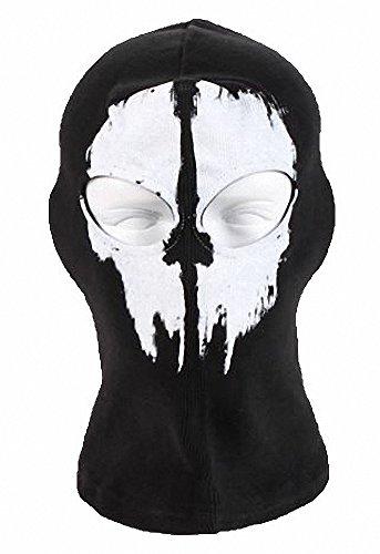 tobe-u Ghost Skull Full Face Maske für Halloween Call of Duty Zwei Löchern Einheitsgröße Schwarz A