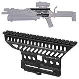 ACEXIER Russian AK AK47 74 47 B-13 CNC Alluminio 20mm M47 qd Side Rail Red DOT Scope Mount Base Picatinny Cerakote Hunting