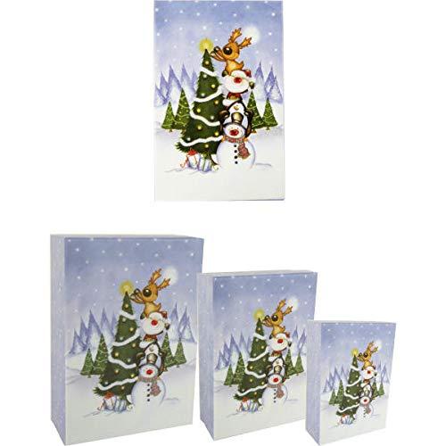 Geschenkdozen Kerstmis, set van 3, opbergdoos, kerstboom versieren.