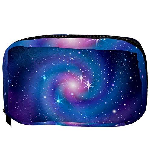 TIZORAX make-up tas Galaxie glanzende spiraal praktische reistas toilet organizer make-up tas voor vrouwen meisjes